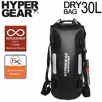 """Hypergear Dry Bag Vroom 30L - IPX6 Waterproof with Strap Holders Included ( Black ) ( Barcode : """"301211"""")"""