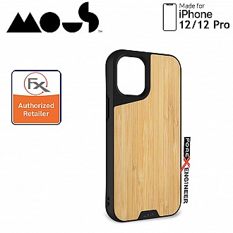 """Mous Limitless 3.0 for iPhone 12 / 12 Pro 5G 6.1"""" - Air Shock High Impact Material Case -  Bamboo (Barcode : 5060624483882 )"""