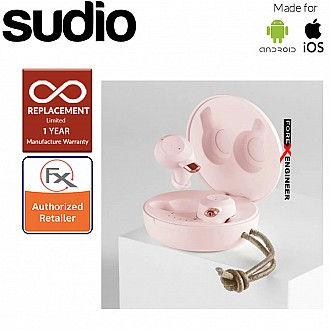 Sudio Fem IPX5 True Wireless Earbuds with 4 Environmental Noise-Canceling Microphones ( Pink ) ( Barcode : 7350071387764 )