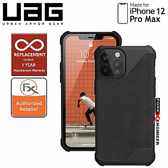 """UAG Metropolis LT for iPhone 12 Pro Max 5G 6.7"""" - ( Leather Black ) ( Barcode : 812451037364 )"""