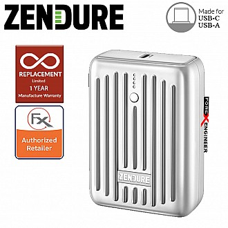 Zendure SuperMini - 10,000 mAh Credit Card Sized Portable Charger with PD ( Silver ) ( Barcode : 850006872206 )