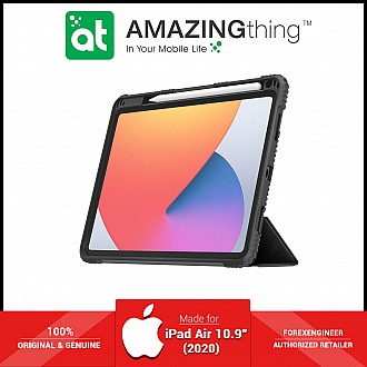 """AmazingThing Military Drop Proof Case for iPad Air 10.9"""" / 10.9 inch (4th Gen) - Antimicrobial Case - Black (Barcode: 4892220389739 )"""