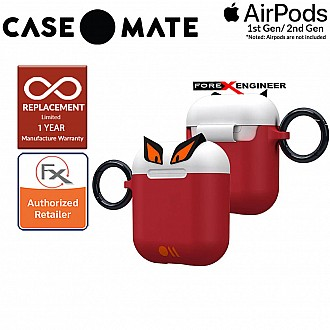 Case Mate CreaturePods for Airpods Series 1 & 2 -  Edge The Bad Boy Case with Black Carabiner Clip ( Barcode : 846127187053 )