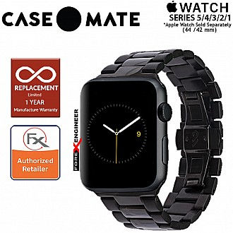 Case Mate Linked Watch Band for Apple Watch Series SE / 6 / 5 / 4 / 3 / 2 / 1 ( 42 / 44 mm ) ( Black / Space Grey ) ( Barcode : 846127170482 )