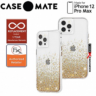 """Case Mate Twinkle Ombré with MicroPel for iPhone 12 Pro Max 5G 6.7"""" -  Gold (Barcode : 846127198059 )"""