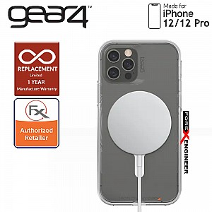 """Gear4 Crystal Palace Snap for iPhone 12 / 12 Pro 5G 6.1"""" - D3O Material Technology - Drop Resistant Up to 4 meters - Clear (Barcode : 840056138131 )_[RACK CLEARANCE]"""