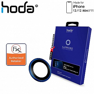 Hoda Sapphire Lens Protector for iPhone 12 / 12 Mini / 11 - 2 pcs - Pacific Blue Color (Barcode: 4713381519707 )