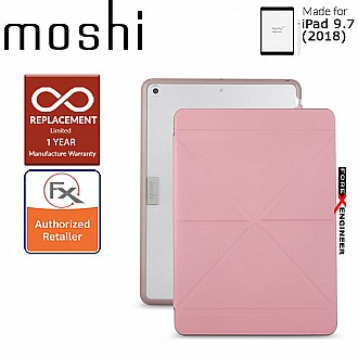 """Moshi VersaCover with Folding Cover for iPad 9.7"""" / 9.7 inch (2017 5th Gen & 2018 6th Gen) - Pink Color ( Barcode : 4713057251979 )"""