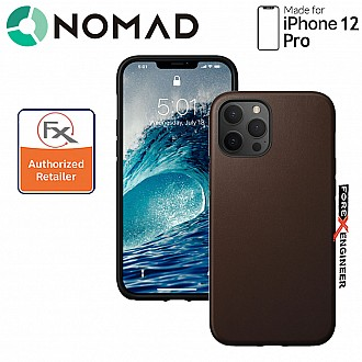 """Nomad Rugged Case for iPhone 12 / 12 Pro 6.1"""" ( Rustic Brown ) ( Barcode : 856500019246 )"""