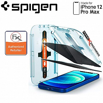 """Spigen Privacy Screen Protector for iPhone 12 Pro Max 6.7"""" - AlignMaster Full Coverage  (2pcs) ( Barcode : 8809710757059 )"""