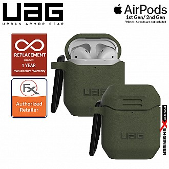 UAG Silicone Case V2 for Airpods 1 and 2  - Olive Color (Barcode : 812451035377 )