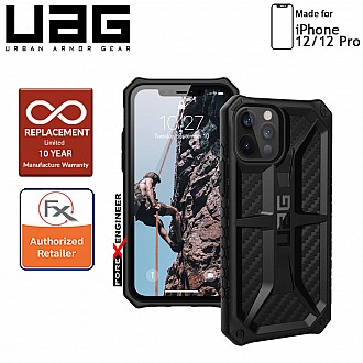 "UAG Monarch for iPhone 12 / 12 Pro 5G 6.1"" - Rugged Military Drop Tested - ( Carbon Fibre ) ( Barcode : 812451036053 )"
