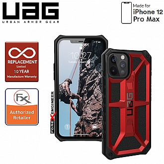 "UAG Monarch for iPhone 12 Pro Max 5G 6.7 "" - Rugged Military Drop Tested - ( Crimson ) ( Barcode : 812451036169 )"