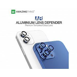 AmazingThing SUPREME AR 3D Lens Protector for iPhone 12 Pro Max - 3 pcs - Blue (Barcode: 4892878062992 )