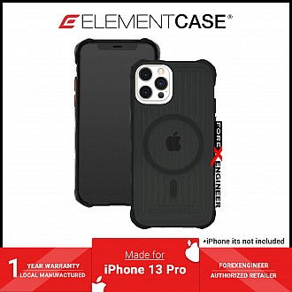 """Element Case Special Ops for iPhone 13 / 13 Pro 6.1"""" 5G - MagSafe Compatible -  Smoke / Black (Barcode: 810046112045 )"""