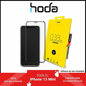 """Hoda Tempered Glass for iPhone 13 Mini 5.4"""" 5G ( 2.5D 0.33mm Full Coverage ) - Clear (Barcode: 4711103541647 )"""