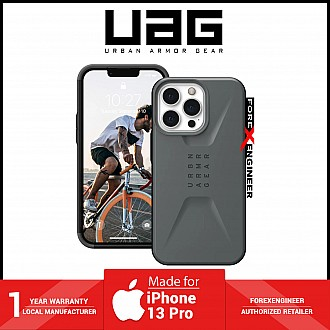 """UAG Civilian for iPhone 13 Pro 5G 6.1"""" - Silver  (Barcode: 810070363123 )"""