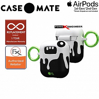 Case Mate CreaturePods for Airpods Series 1 & 2 - Ozzy Dramatic Case with Green Carabiner Clip ( Barcode : 846127187046 )