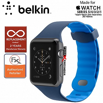 Belkin Sport Band for Apple Watch Series 5 / 4 / 3 / 2 / 1 ( 38mm / 40mm ) ( Marina Blue ) ( Barcode : 745883723690 )