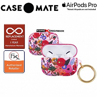 Case Mate Rifle Paper for Airpods Pro - Garden Party Blush with Gold Circular Ring ( 846127191135 )