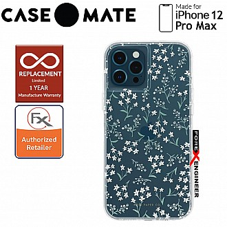 """Case Mate Rifle Paper Co. for iPhone 12 Pro Max 5G 6.7"""" - Embellished Petite Fleurs with MicroPel (Barcode: 846127197144 )"""