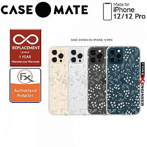 """Case Mate Rifle Paper Co. for iPhone 12 / 12 Pro  5G 6.1"""" - Embellished Petite Fleurs with MicroPel (Barcode: 846127197205 )"""