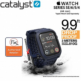 Catalyst Impact Protection Case with Sport Band for Apple Watch 44mm Series SE / 6 / 5 / 4 Buckle Edition ( Midnight Blue ) (Barcode: 840625104826)