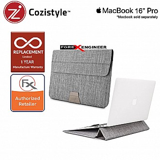 """Cozistyle Stand Sleeve for Macbook 16"""" Pro - Gray (Barcode : 840021103300 )"""