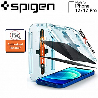 """Spigen Privacy Screen Protector for iPhone 12 / 12 Pro 6.1"""" - AlignMaster Full Coverage  (2pcs) ( Barcode : 8809710757134 )"""