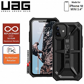 """UAG Monarch for iPhone 12 Mini 5G 5.4"""" - Rugged Military Drop Tested ( Black ) - ( Barcode : 812451035940 )"""