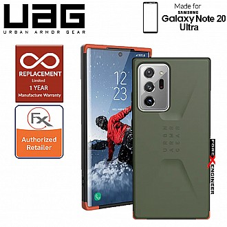 [PRE-ORDER] UAG Civilian for Samsung Galaxy Note 20 Ultra 5G ( Olive ) ( Barcode : 812451037609 )