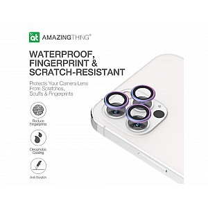 AmazingThing SUPREME AR 3D Lens Protector for iPhone 12 Pro Max - 3 pcs - Symphony Purple (Barcode: 4892878063005 )