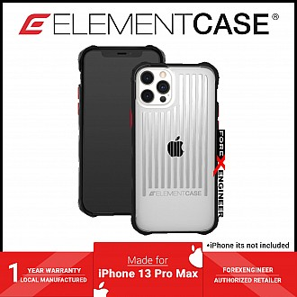 """Element Case Special Ops for iPhone 13 Pro Max 6.7"""" 5G - Clear / Black (Barcode: 810046111963 )"""