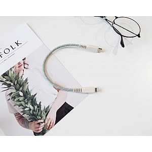 Monocozzi Motif Braided USB-C to Lightning Cable ( 25cm ) - Green (Barcode: 4895199105379 )