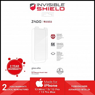 """InvisibleShield Glass Elite for iPhone 13 / 13 Pro 6.1"""" 5G - Case Friendly Screen (Barcode: 840056148833 )"""