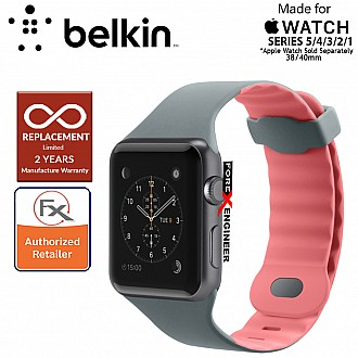 Belkin Sport Band for Apple Watch Series 5 / 4 / 3 / 2 / 1 ( 38mm / 40mm ) ( Carnation ) ( Barcode : 745883723683 )