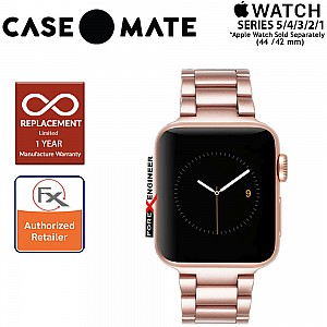 Case Mate Linked Watch Band for Apple Watch Series 5 / 4 / 3 / 2 / 1 ( 42 / 44 mm ) ( Rose Gold ) ( Barcode : 846127183086 )