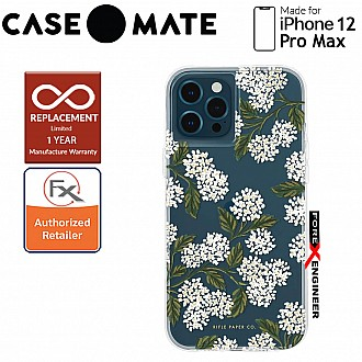 """Case Mate Rifle Paper Co. for iPhone 12 Pro Max 5G 6.7"""" - Hydrangea with MicroPel (Barcode: 846127195928 )"""