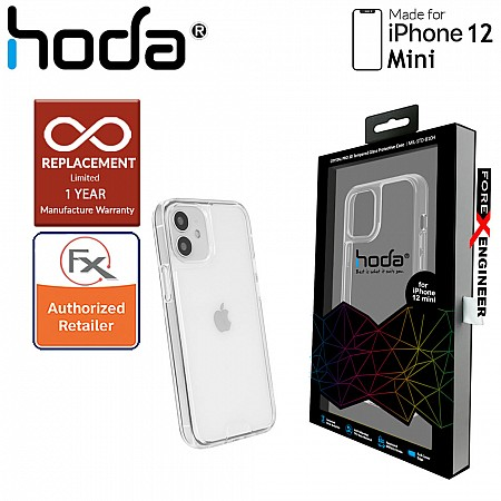 """Hoda Crystal Pro Glass Case Military Standard for iPhone 12 Mini 5G 5.4"""" - Clear (Barcode: 4713381518359 )"""