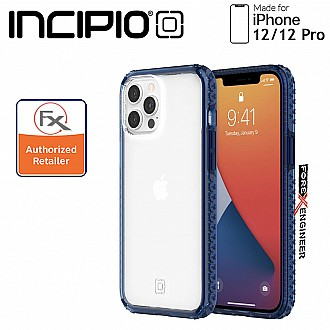 """Incipio Grip for iPhone 12 / 12 Pro 5G 6.1"""" -  Classic Blue/Clear (Barcode : 191058117915 )"""