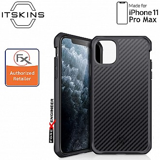 ITSkins Hybrid Fusion Carbon for iPhone 11 Pro Max ( Black 1 ) ( Barcode: 4894465852511 )