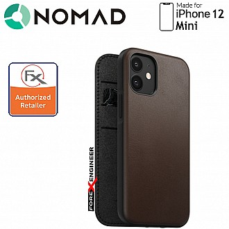 """Nomad Rugged Folio Case for iPhone 12 Mini 5G 5.4"""" - Rustic Brown ( Barcode : 856504015558)"""