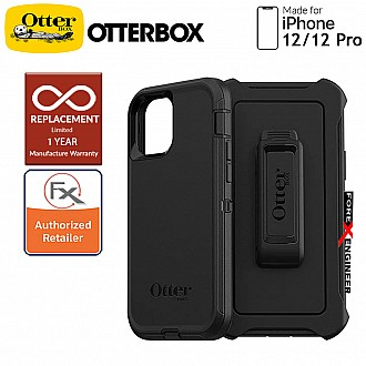"""Otterbox Defender for iPhone 12 / 12 Pro 5G 6.1"""" - Black (Barcode : 840104215685 )"""