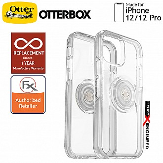 """OTTER + POP Symmetry Clear for iPhone 12 / iPhone 12 Pro 5G 6.1"""" - Clear (Barcode : 840104219942 )"""