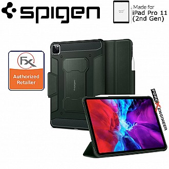 Spigen Rugged Armor Pro for iPad Pro 11 inch ( 2020 ) 2nd Gen - Military Green ( Barcode : 8809685629665 )