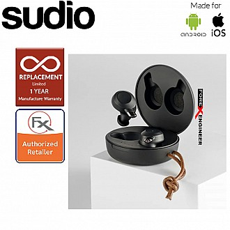 Sudio Fem IPX5 True Wireless Earbuds with 4 Environmental Noise-Canceling Microphones ( Black ) ( Barcode : 7350071383025 )