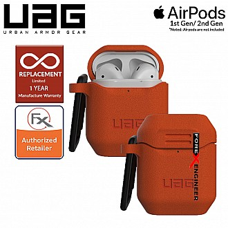 UAG Silicone Case V2 for Airpods 1 and 2  - Orange Color (Barcode : 812451035384 )