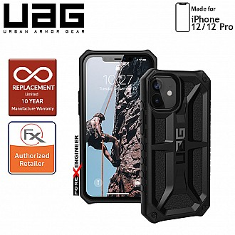 "UAG Monarch for iPhone 12 / 12 Pro 5G 6.1"" - Rugged Military Drop Tested ( Black ) - ( Barcode : 812451036046 )"
