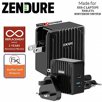Zendure SuperPort 2 ( 57W ) Wall Charger with 45W PD & US , UK , EU Plug ( Black ) ( Barcode : 857348008416 )