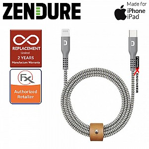 Zendure USB-C to Lightning Cable 100cm SuperCord Kevlar ( Gray ) ( Barcode : 857348008812 )